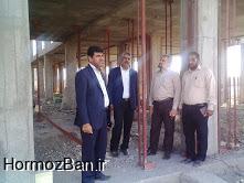 بازدید معاون محترم مدیر کل از روند عملیات اجرایی ساختمان دبیرستان شبانه روزی ابوریحان هشت بندی